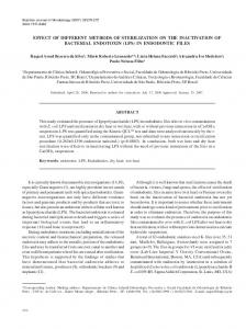 effect of different methods of sterilization on the ... - CiteSeerX