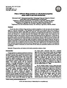 Effect of different tillage practices on soil physical ... - Soil & Environment