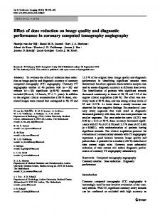 Effect of dose reduction on image quality and ... - Springer Link