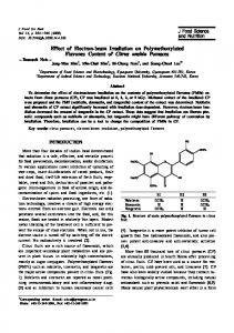 Effect of Electron-beam Irradiation on ...