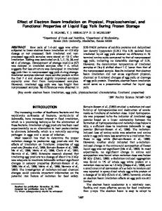 Effect of Electron Beam Irradiation on Physical, Physicochemical, and ...