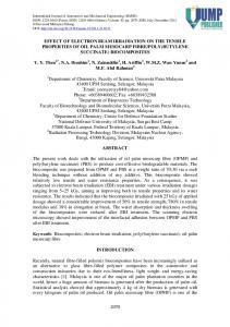 Effect of Electron Beam Irradiation on the Tensile Properties of Oil ...