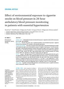 Effect of environmental exposure to cigarette smoke on blood pressure ...