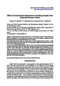 Effect of environmental temperature on bending strength of the finger
