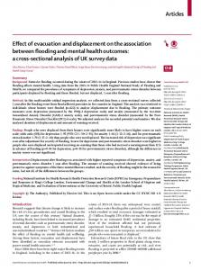 Effect of evacuation and displacement on the association between ...
