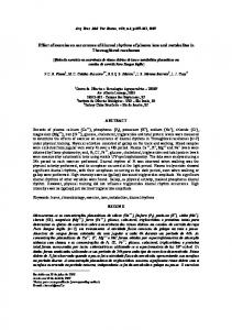 Effect of exercise on occurrence of diurnal rhythms of ... - Scielo.br