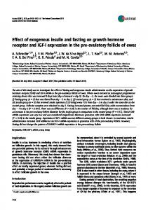 Effect of exogenous insulin and fasting on growth ... - Semantic Scholar