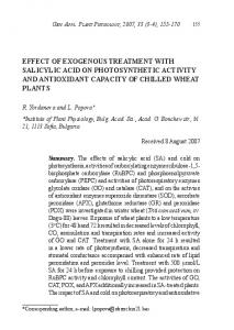 effect of exogenous treatment with salicylic acid on ... - Semantic Scholar