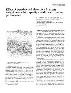 Effect of experimental alterations in excess weight on aerobic capacity