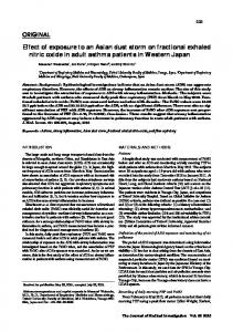 Effect of exposure to an Asian dust storm on fractional ... - J-Stage