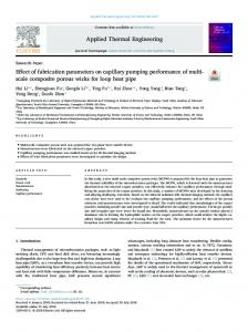 Effect of fabrication parameters on capillary pumping