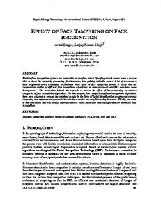 effect of face tampering on face recognition - Semantic Scholar