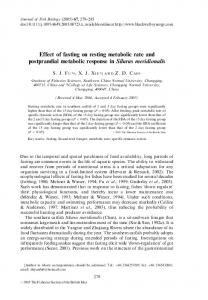 Effect of fasting on resting metabolic rate and postprandial metabolic ...