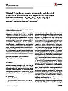 Effect of Fe doping on structural, magnetic, and ... - Springer Link