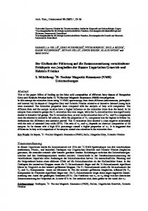 Effect of feeding on the fatty acid composition of ...