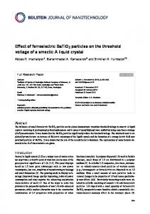 Effect of ferroelectric BaTiO3 particles on the ... - Beilstein Journal