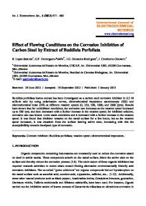 Effect of Flowing Conditions on the Corrosion Inhibition of Carbon ...