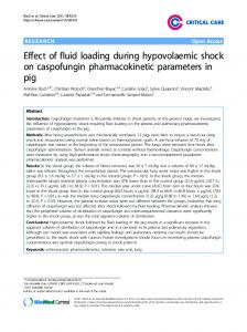 Effect of fluid loading during hypovolaemic shock