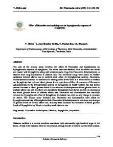 Effect of fluoxetine and escitalopram on hypoglycemic response of ...