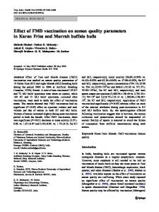 Effect of FMD vaccination on semen quality parameters ... - Springer Link