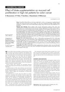 Effect of folate supplementation on mucosal cell proliferation in ... - Gut