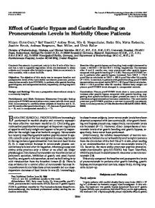 Effect of Gastric Bypass and Gastric Banding on Proneurotensin ...