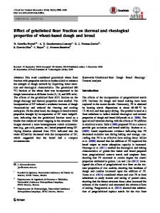 Effect of gelatinized flour fraction on thermal and ... - Springer Link