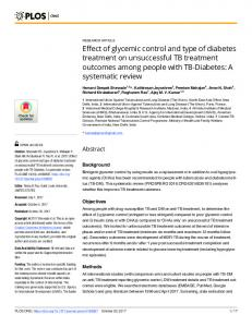 Effect of glycemic control and type of diabetes ... - Semantic Scholar