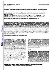 Effect of glycomacropeptide fractions on cholecystokinin and food intake