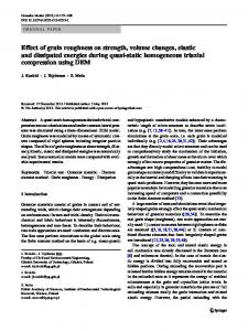 Effect of grain roughness on strength, volume changes ... - Springer Link