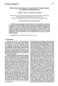 Effect of Grain Size Changes on Corrosion Behavior of Copper ...