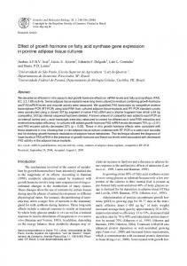 Effect of growth hormone on fatty acid synthase gene ... - Scielo.br