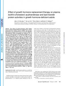 Effect of growth hormone replacement therapy on ...