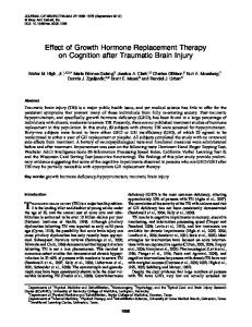 Effect of Growth Hormone Replacement Therapy on Cognition after ...