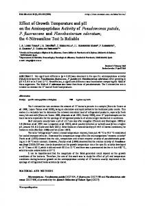 Effect of Growth Temperature and pH on the ... - Springer Link