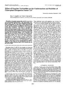 Effect of Guanine Nucleotides on the Conformation and Stability of ...