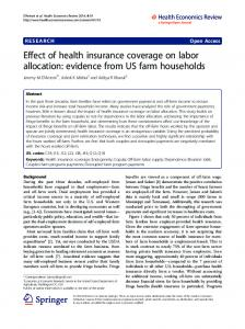 Effect of health insurance coverage on labor