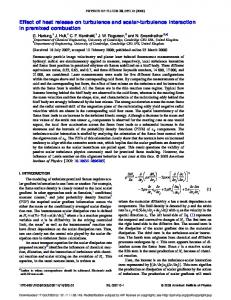 Effect of heat release on turbulence and scalar-turbulence interaction ...