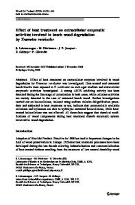 Effect of heat treatment on extracellular enzymatic activities involved in ...