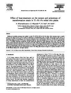 Effect of heat-treatment on the texture and anisotropy of ...