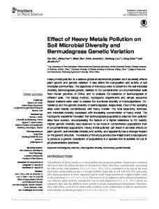 Effect of Heavy Metals Pollution on Soil Microbial ... - Semantic Scholar