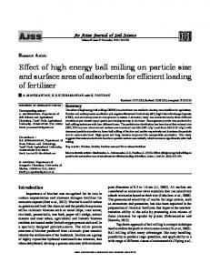 Effect of high energy ball milling on particle size and ...