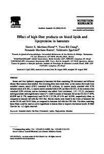 Effect of high fiber products on blood lipids and ...