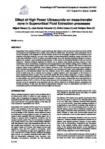 Effect of High Power Ultrasounds on mass-transfer zone in ...