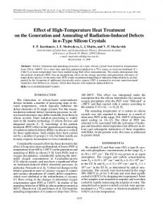 Effect of high-temperature heat treatment on the ... - Springer Link