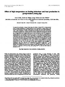 Effect of high temperature on feeding behaviour and