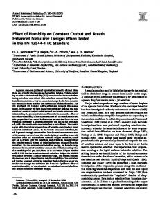Effect of Humidity on Constant Output and Breath Enhanced Nebulizer ...