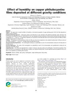 Effect of humidity on copper phthalocyanine films
