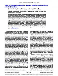 Effect of hydrogen codoping on magnetic ordering and conductivity in