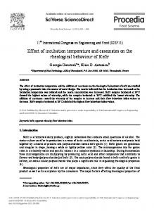 Effect of incubation temperature and caseinates on the rheological ...